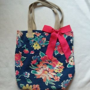 A floral shoulder bag